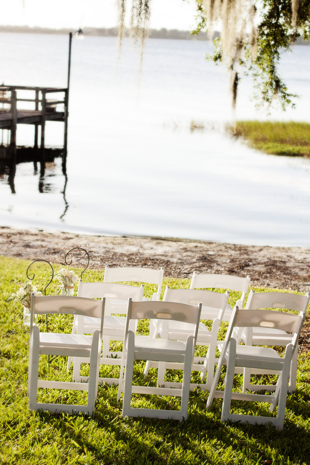Central Florida lakefront intimate wedding