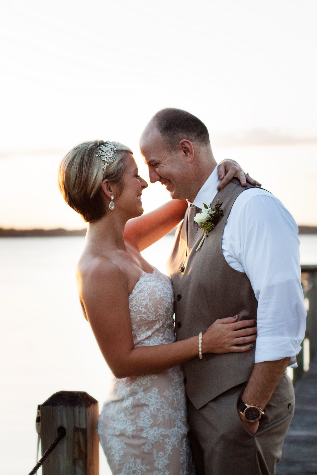 Central Florida intimate lakefront wedding