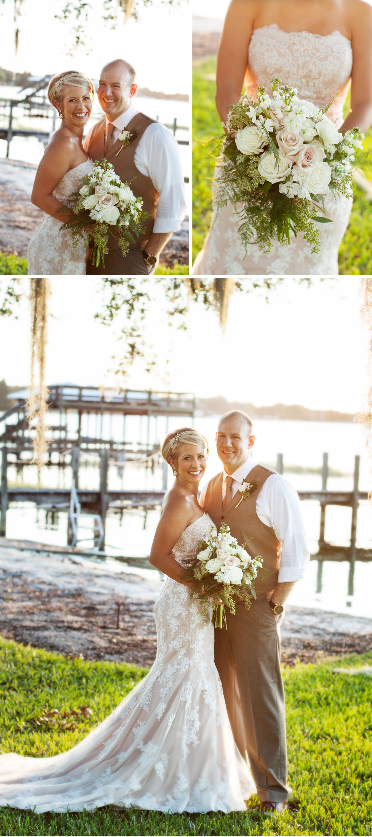 Intimate lakefront wedding inspiration photos