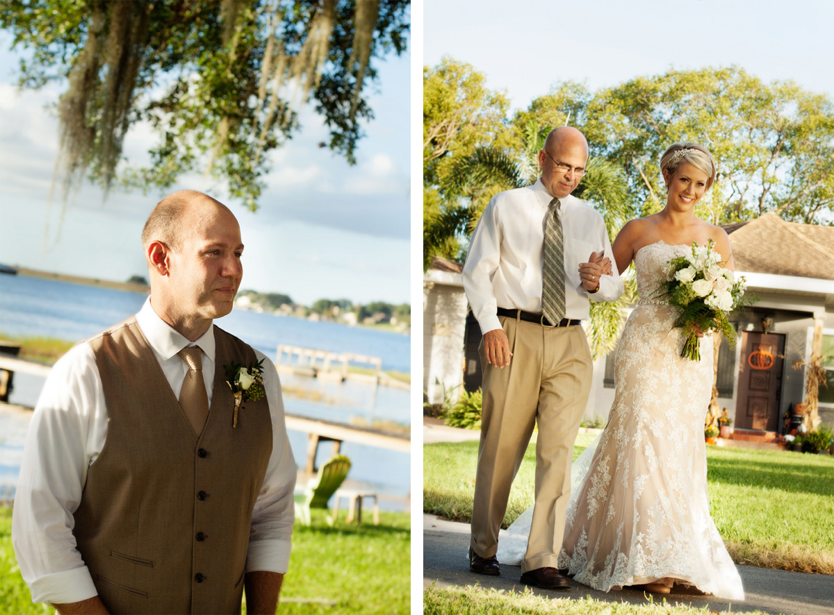 Central Florida lakefront wedding